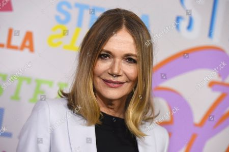 """Peggy Lipton arrives at the Stella McCartney Autumn 2018 Presentation in Los Angeles on . Lipton, a star of the groundbreaking late 1960s TV show """"The Mod Squad"""" and the 1990s show """"Twin Peaks,"""" died of cancer at age 72 on May 11"""
