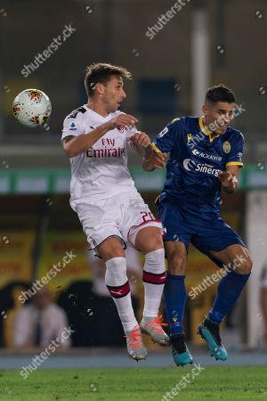 Lucas Rodrigo Biglia (Milan) Davide Faraoni (Hellas Verona)