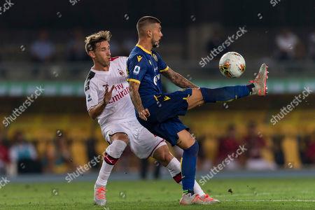 Lucas Rodrigo Biglia (Milan) Mattia Zaccagni (Hellas Verona)