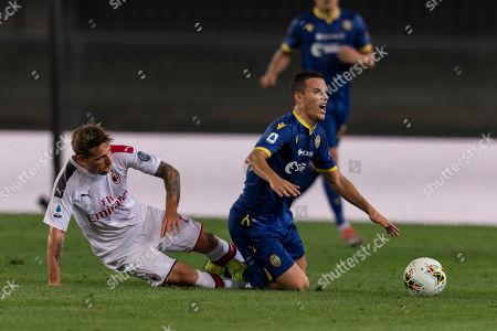 Valerio Verre (Hellas Verona) Lucas Rodrigo Biglia (Milan)