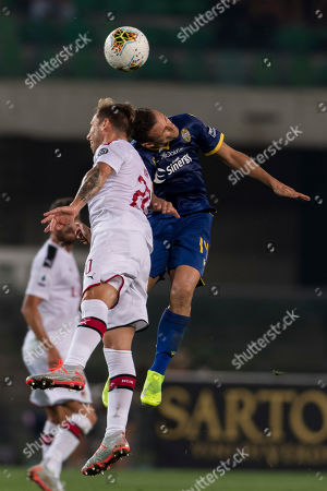 Lucas Rodrigo Biglia (Milan) Valerio Verre (Hellas Verona)