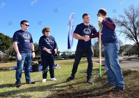 IMAGE DISTRIBUTED FOR ALLSTATE - Tim Tebow joins Allstate volunteers at a community service project to benefit the Einstein Charter School ahead of the 2020 Allstate Sugar Bowl, in New Orleans