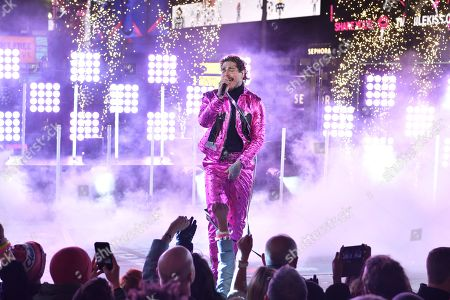 Post Malone performs during Dick Clark's New Year's Rockin' Eve