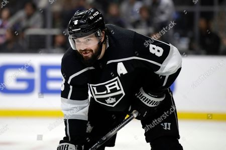 Los Angeles Kings' Drew Doughty (8) during the third period of an NHL hockey game against the Philadelphia Flyers, in Los Angeles