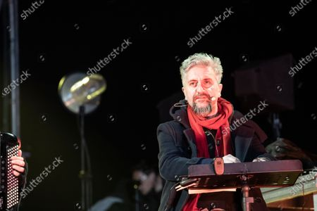 Ascanio Celestini performs during the New Year celebrations at the Circus Maximus in Rome