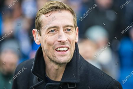 Peter James Crouch former professional footballer ahead of the Premier League match between Brighton and Hove Albion and Chelsea at the American Express Community Stadium, Brighton and Hove
