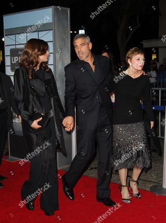 Elisabetta Canalis, George Clooney, mother Nina Warren