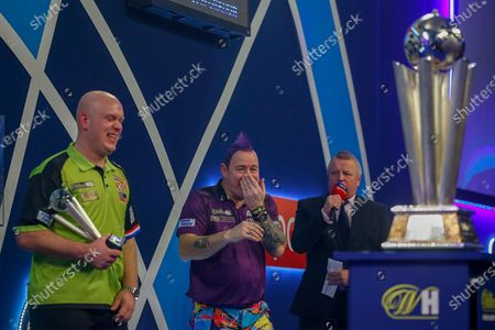 WINNER Peter Wright (Scotland) laughing after his win over Michael Van Gerwen (Netherlands), John McDonald, in the final of the PDC William Hill World Darts Championship at Alexandra Palace, London