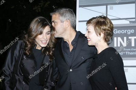 Elisabetta Canalis, George Clooney and mother Nina