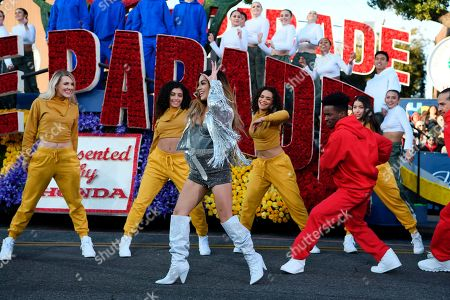 Singer Ally Brooke performs at the 131st Rose Parade in Pasadena, Calif