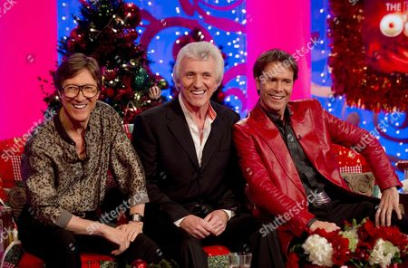 The Shadows, Hank Marvin, Bruce Welch with Cliff Richard and Paul O'Grady.