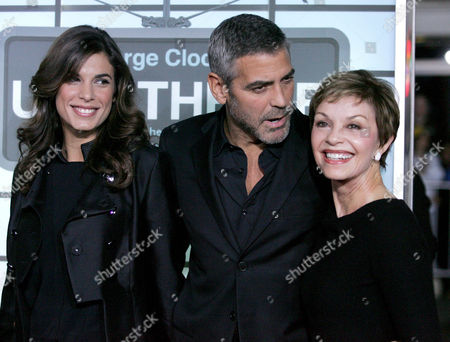 Elisabetta Canalis, George Clooney and his mother Nina