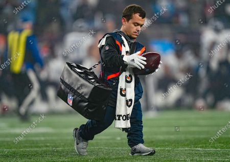 Stock Photo of John Bartlett, Tennessee Titans Equipment Assistant, on the field