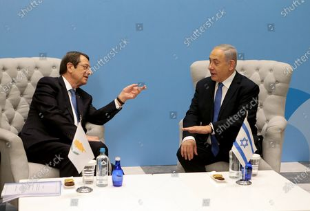 Editorial image of EastMed natural gas pipeline agreement betwwen Greece, Cyprus and Israel, Athens - 02 Jan 2020