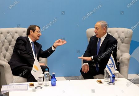 Editorial photo of EastMed natural gas pipeline agreement betwwen Greece, Cyprus and Israel, Athens - 02 Jan 2020