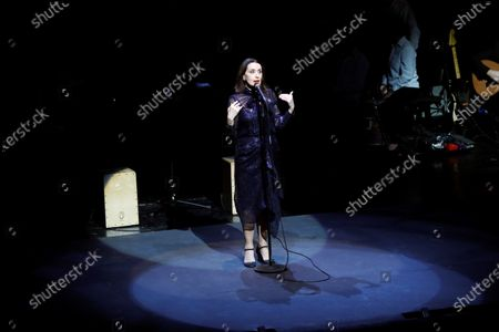 Spanish singer Luz Casal performs during a Recycled-instrument orchestra Cateura concert held at Teatro Real royal opera house in Madrid, Spain, 02 January 2020.
