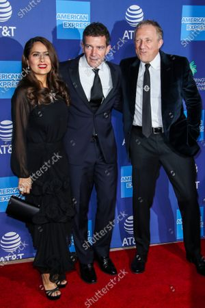 Salma Hayek, Antonio Banderas and Francois-Henri Pinault