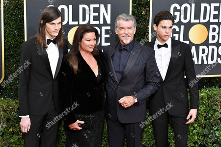 Dylan Brosnan, Keely Shaye Smith, Pierce Brosnan and Paris Brosnan