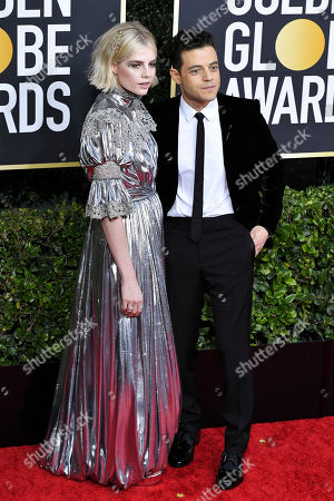 Stock Picture of Lucy Boynton and Rami Malek