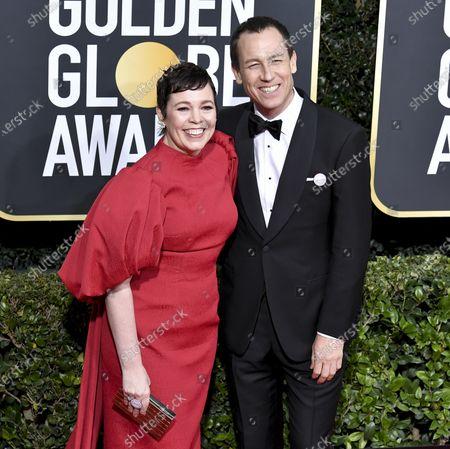 Olivia Colman and Tobias Menzies