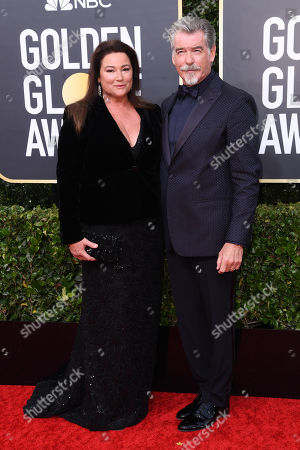 Stock Photo of Pierce Brosnan and wife Keely Shaye Smith