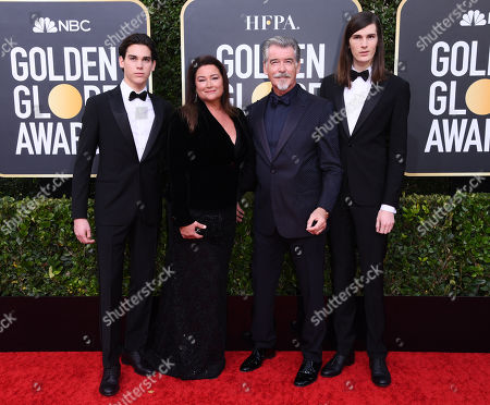 Paris Brosnan, Pierce Brosnan, Keely Shaye Smith and Dylan Brosnan