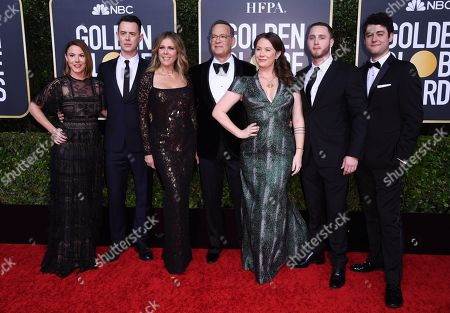 Samantha Bryant, Colin Hanks, Rita Wilson, Tom Hanks, Elizabeth Hanks, Chet Hanks and Truman Hanks