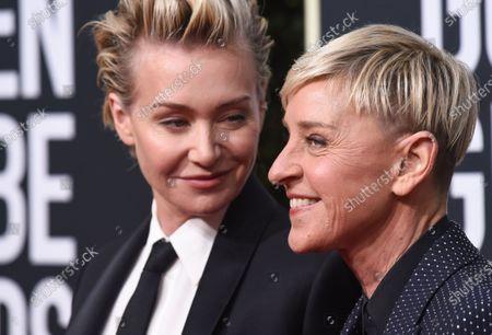 Stock Picture of Portia de Rossi and Ellen DeGeneres
