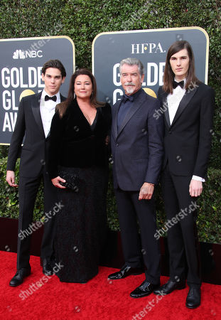 Paris Brosnan, Keely Shaye Smith, Pierce Brosnan and Dylan Brosnan