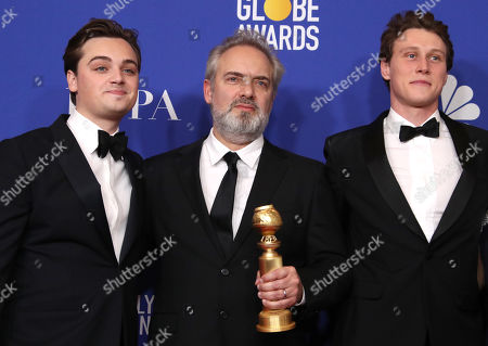 Dean-Charles Chapman, Sam Mendes and George MacKay - Best Motion Picture, Drama - 1917