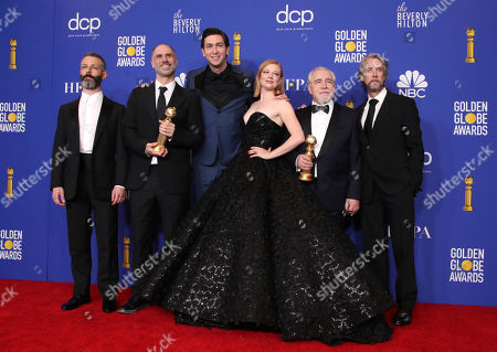 Jeremy Strong, Jesse Armstrong, Nicholas Braun, Sarah Snook, Brian Cox and Alan Ruck - Best Television Series, Drama - Succession