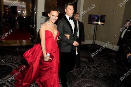 Stock Photo of Scarlett Johansson, Colin Jost