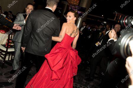 Stock Picture of Scarlett Johansson, Colin Jost