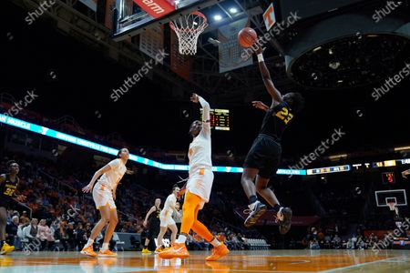 Amber Smith #23 of the Missouri Tigers shoots the ball over Rennia Davis #0 of the Tennessee Lady Vols during the NCAA basketball game between the University of Tennessee Lady Volunteers and University of Missouri Tigers at Thompson Boling Arena in Knoxville TN Tim Gangloff/CSM