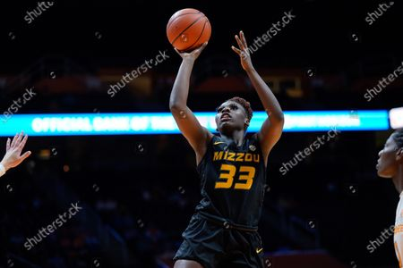 Amber Smith #23 of the Missouri Tigers shoots the ball during the NCAA basketball game between the University of Tennessee Lady Volunteers and University of Missouri Tigers at Thompson Boling Arena in Knoxville TN Tim Gangloff/CSM