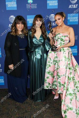 Stock Photo of Elaine Goldsmith-Thomas, Lorene Scafaria and Jennifer Lopez