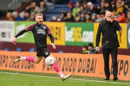 4th January 2020, Turf Moor, Burnley, England; Emirates FA Cup, Burnley v Peterborough : Dan Butler (3) of Peterborough United in action during the game.Credit: Richard Long/News Images