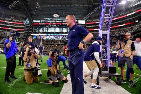 th, 2019:.Dallas Cowboys Head Coach Jason Garrett in his last game during an NFL football game between the Washington Redskins and Dallas Cowboys at AT&T Stadium in Arlington, Texas