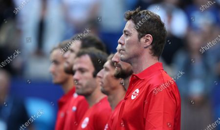 Marat Safin, team captain of Russia is seen during day 1 of the ATP Cup tennis tournament at RAC Arena in Perth, Australia, 03 January 2020.