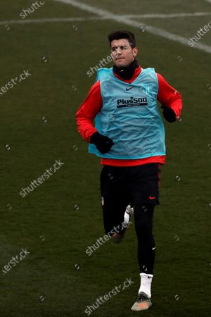 Atletico Madrid's Spanish forward Alvaro Morata attends a training session at the club's sport complex in Majadahonda, outside Madrid, Spain, 03 January 2020. The team prepares for its upcoming Spanish LaLiga match against Levante on 04 January.