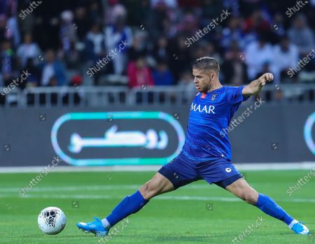 Al-Hilal's Gustavo Cuellar in action during the Saudi King's Cup Round of 16 match between Al-Hilal and Al-Faisaly at King Salman Sport City Stadium, Majmaah, Saudi Arabia, 03 January 2020.