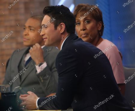 Stock Picture of T J Holmes, Robin Roberts and Whit Johnson