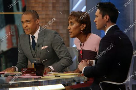 T J Holmes, Robin Roberts and Whit Johnson