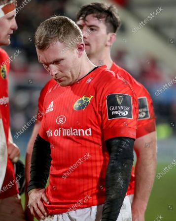 Ulster vs Munster. Munster's Keith Earls dejected after the game