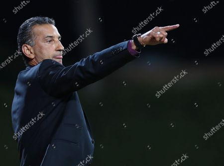 Al-Faisaly Head Coach Pericles Chamusca Reacts during the Saudi King's Cup Round of 16 match between Al-Hilal and Al-Faisaly at King Salman Sport City Stadium, Majmaah, Saudi Arabia, 03 January 2020.