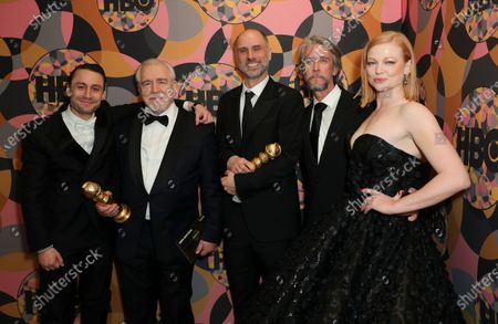 Stock Picture of Kieran Culkin, Brian Cox, Jesse Armstrong, Alan Ruck and Sarah Snook