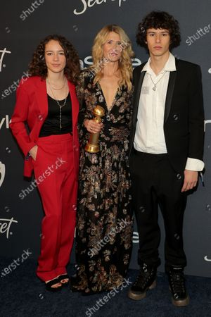 Stock Image of Ellery Harper, Laura Dern and Jaya Harper