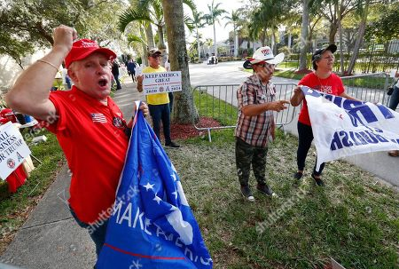 Jose Barja, Andrew Gillum. Trump supporter Jose Barja, left, chants at a protester as he and others stand outside the King Jesus International Ministry, as they waited for a rally with President Donald Trump, in Miami