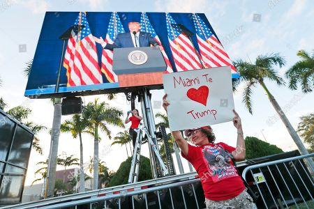 Editorial picture of Trump, Miami, USA - 03 Jan 2020