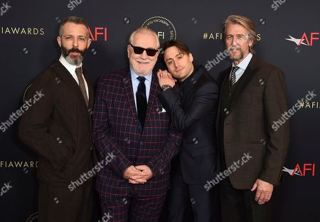 Jeremy Strong, Brian Cox, Kieran Culkin, Alan Ruck. Jeremy Strong, Brian Cox, Kieran Culkin and Alan Ruck arrive at the 2020 AFI Awards at the Four Seasons on in Los Angeles